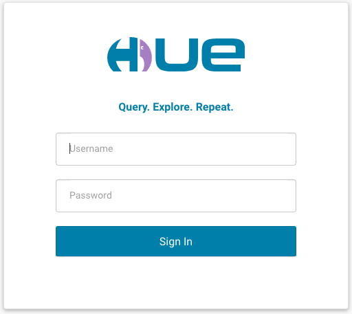 Hue login page