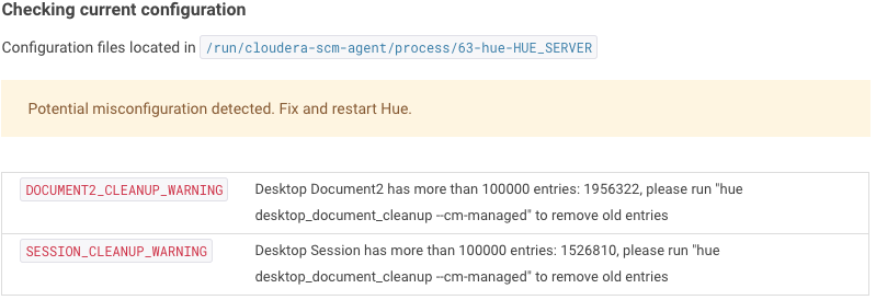 Check config too many documents