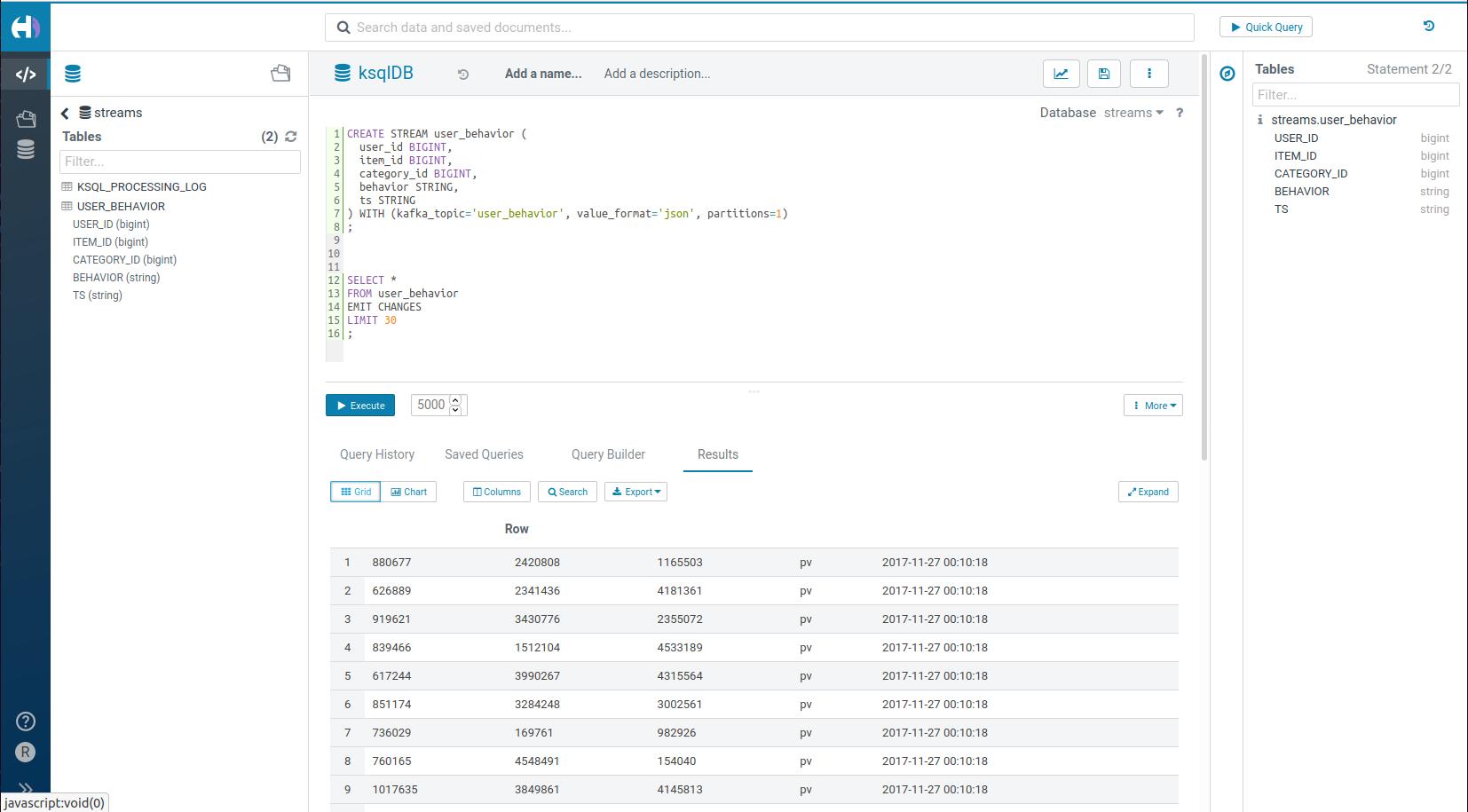 Stream SQL Editor